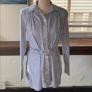Free people belted button up